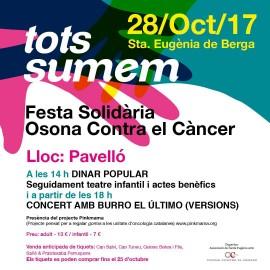 TOTS SUMEM Festa Solidària Contra el Càncer (Santa Eugenia de Berga 28 d'Octubre)