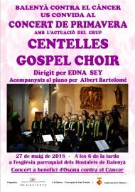 BALENYA CONTRA EL CANCER (Concert    de Primavera de Centelles Gospel Choir)(27-5-2018)